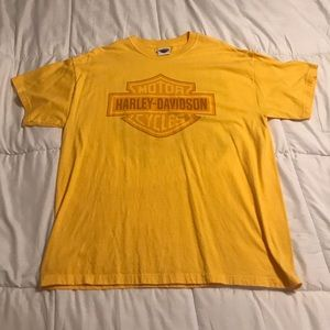 2006 EUC Harley-Davidson Shield Shirt Yellow XL